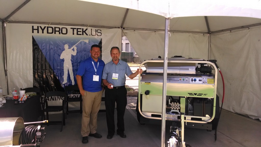 Hydro Tek's Marc de Falkenberg (left) and Joe Gandy (right), owner of Action Cleaning Equipment in Houston Texas.