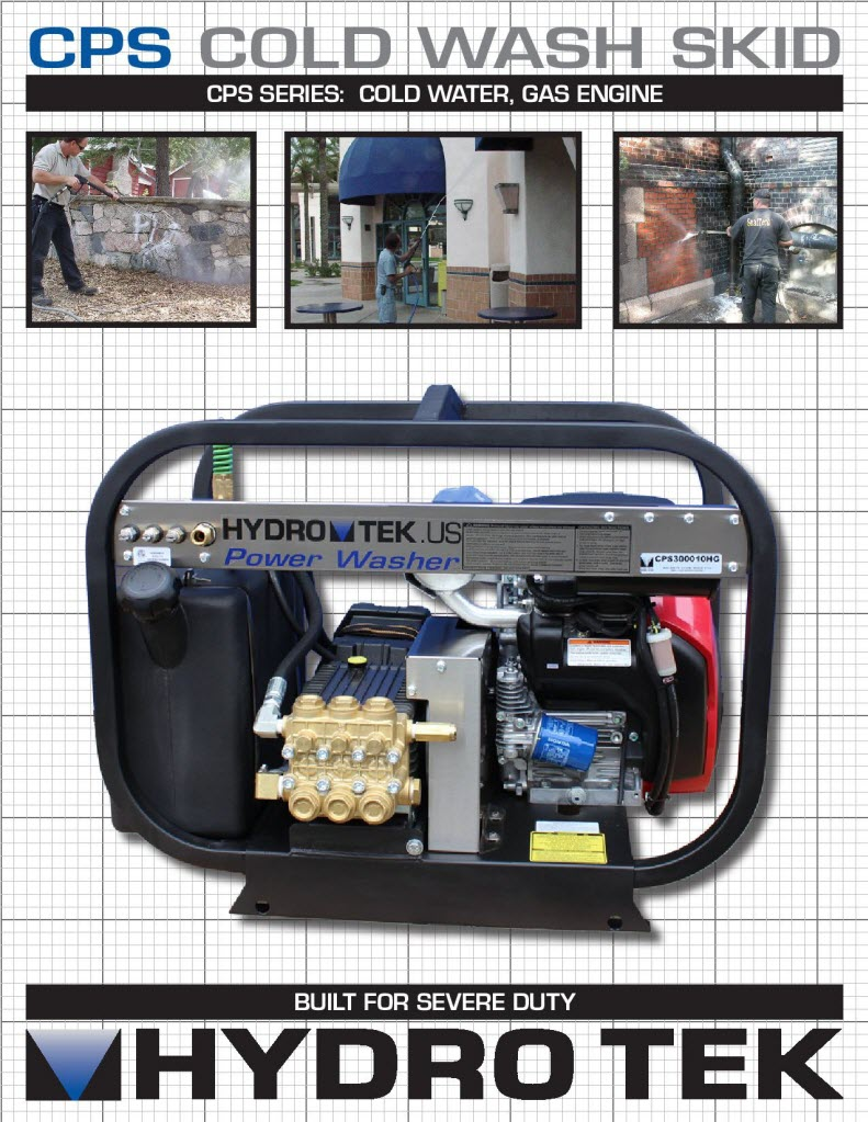 CPS Series Cold Water Pressure Washer Brochure Page1