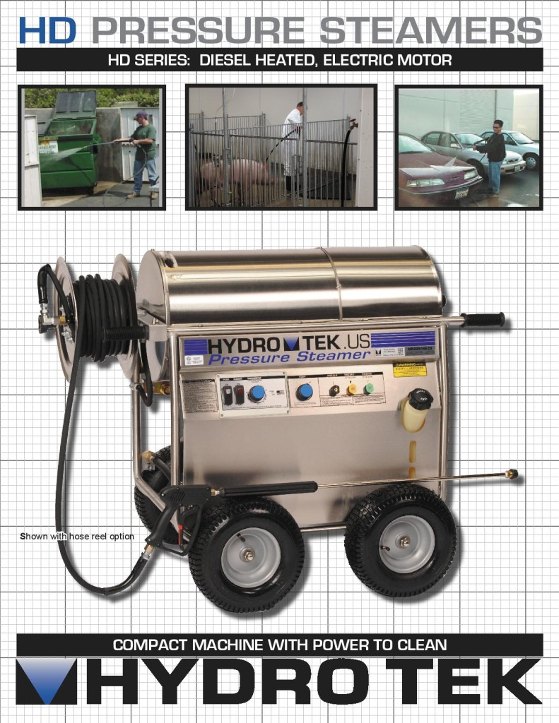 HD Series Hot Water Pressure Washer - Compact Portable Electric Powered, Diesel Heated Brochure Page1