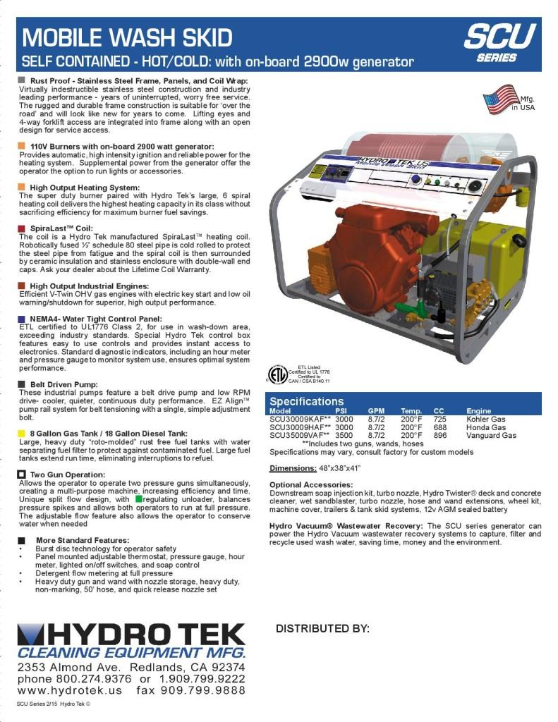 SCU Series Gas Powered, Diesel Heated 2-Gun Systems Brochure Page 2