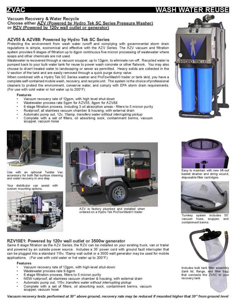 Hydro Vacuum Water/Flood Recovery & Evacuation Brochure Page3
