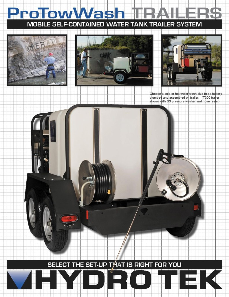 Hydrotek Portable Commercial Trailer Mounted Pressure Washers Brochure 1