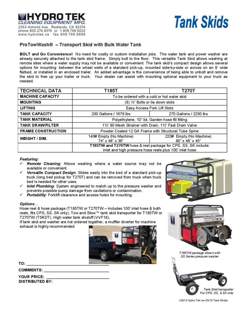 Hydrotek Skid Mount Pressure Washers Brochure