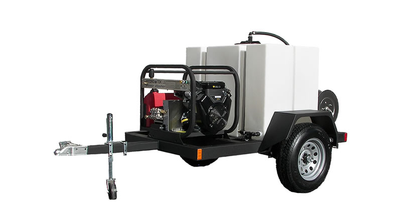 Commercial T185T Portable Pressure Washer Trailer with 200 Gallon Tank