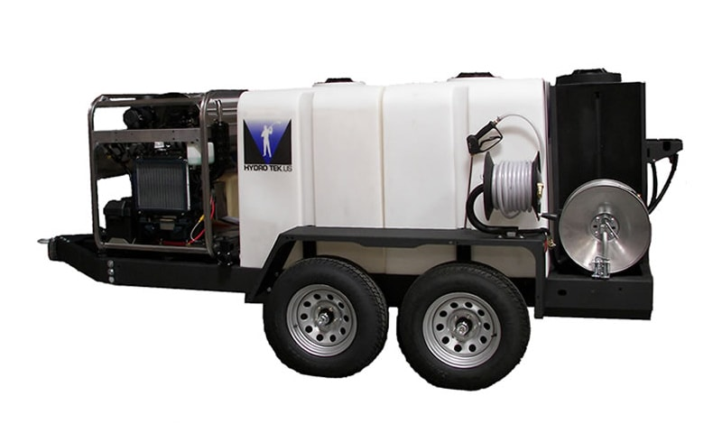 Commercial T400 Portable Pressure Washer Trailer with 400 Gallon Tank