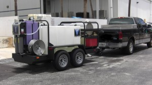 HYDRO TEK NO WATER WASTED T400 TRAILER AZV55 3500 PSI @ 5 GPM