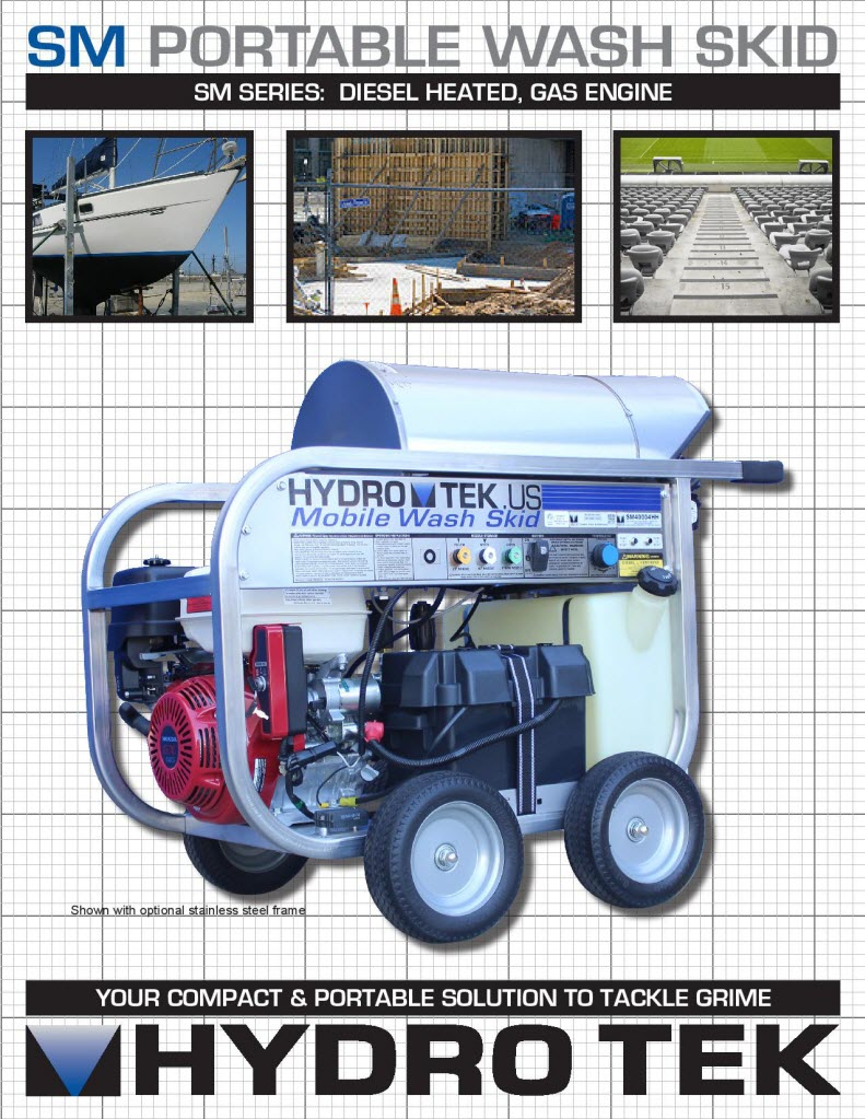 SM Series Portable Hot Water Pressure Washer Brochure Page1