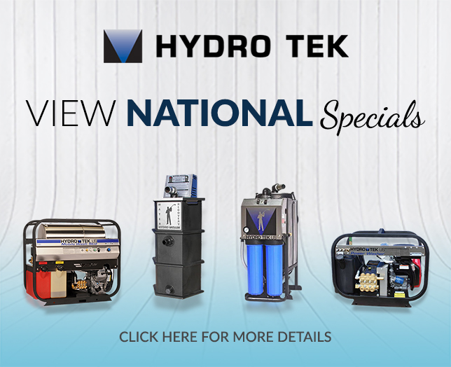 View Hydro Tek Pressure Washer National Specials